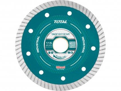 TOTAL Kotouč diamanový řezný, ultra tenký, mokré řezání, industrial, 115x22,2mm