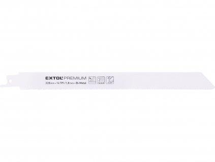 EXTOL PREMIUM plátky do pily ocasky 3ks, 225x19x0,9mm, Bi-metal