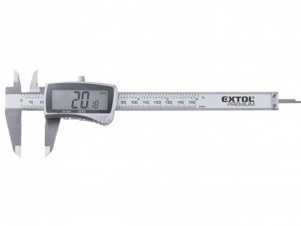 EXTOL PREMIUM měřítko posuvné digitální nerez, 0-150mm