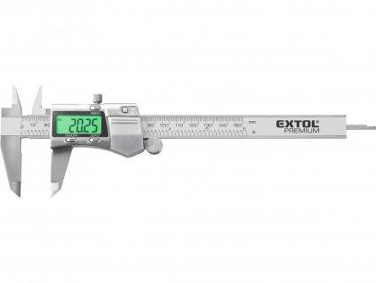 EXTOL PREMIUM měřítko posuvné digitální nerez, 0-150mm, podsvícení displeje