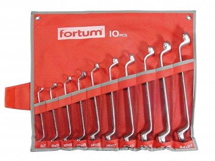 FORTUM klíče očkové, sada 10ks, 6-27mm