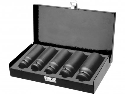 "FORTUM hlavice nástrčné rázové 1/2"", sada 5ks, 17-27mm, L 79mm"