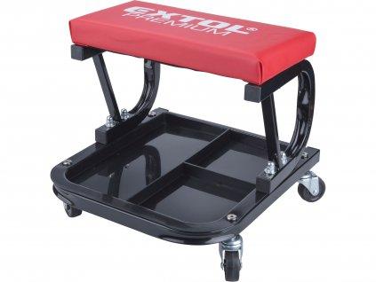 EXTOL PREMIUM sedák montážní pojízdný, nosnost do 120kg