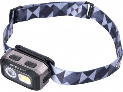 EXTOL LIGHT čelovka 500lm, Dual Power - Li-ion nebo AAA, USB nabíjení, s IR čidlem, OSRAM LED+COB LED