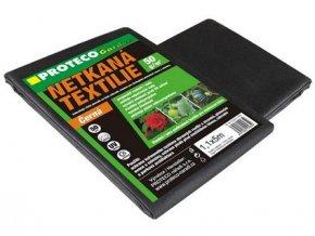 textilie netkaná  1.6 x 5 m  černá 50g/m2