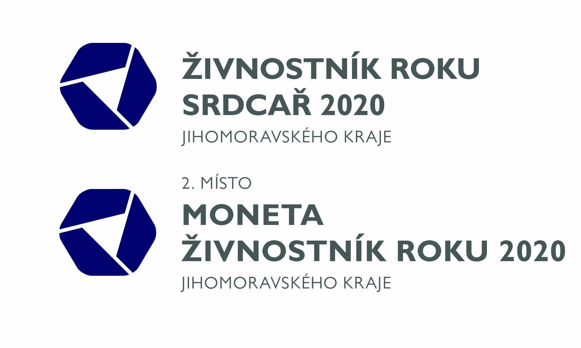 logo Živnostník roku 2.místo v jihomoravském kraji a ocenění srdcař roku