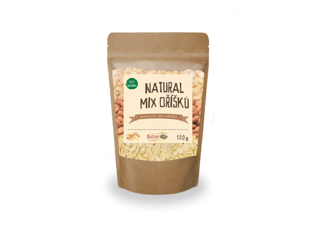 Natural mix oříšků 150g png