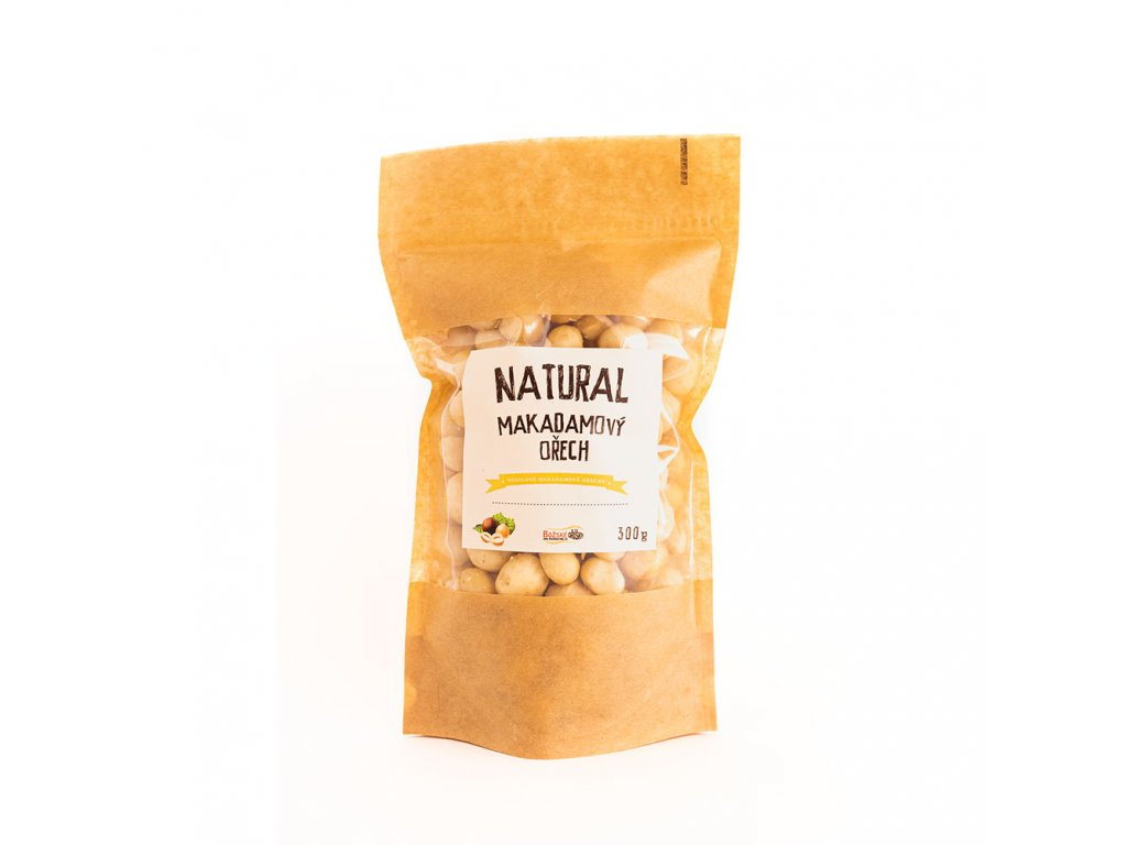 natural makadamovy orechy 300g