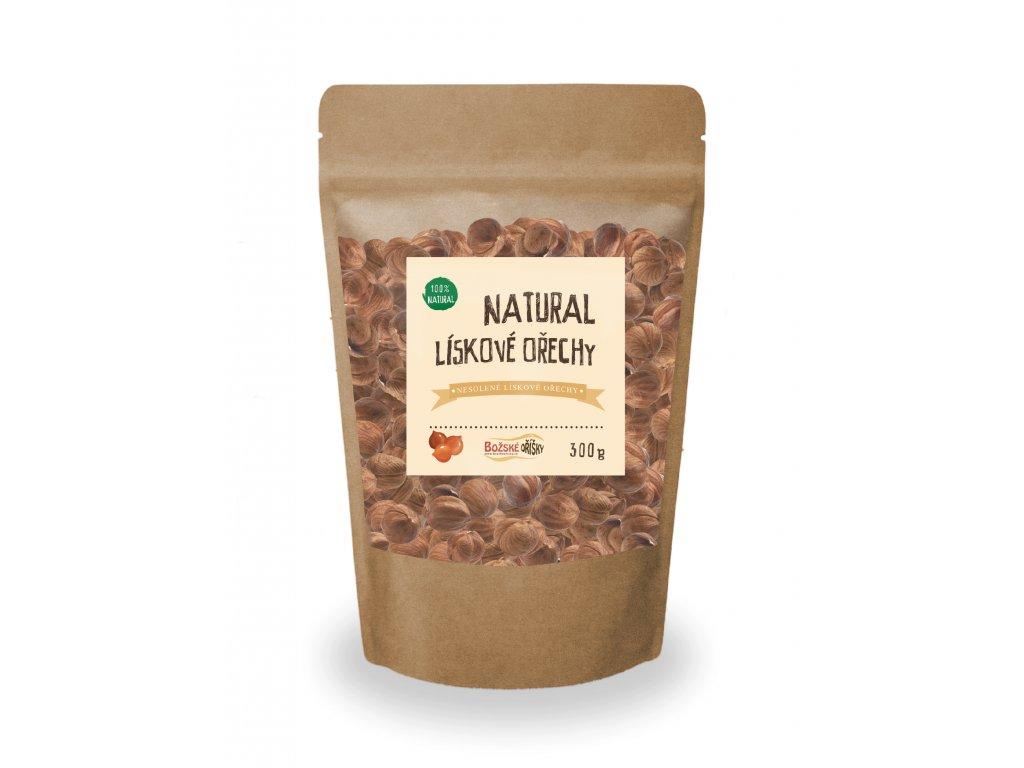 Natural Lískový ořech 300g png