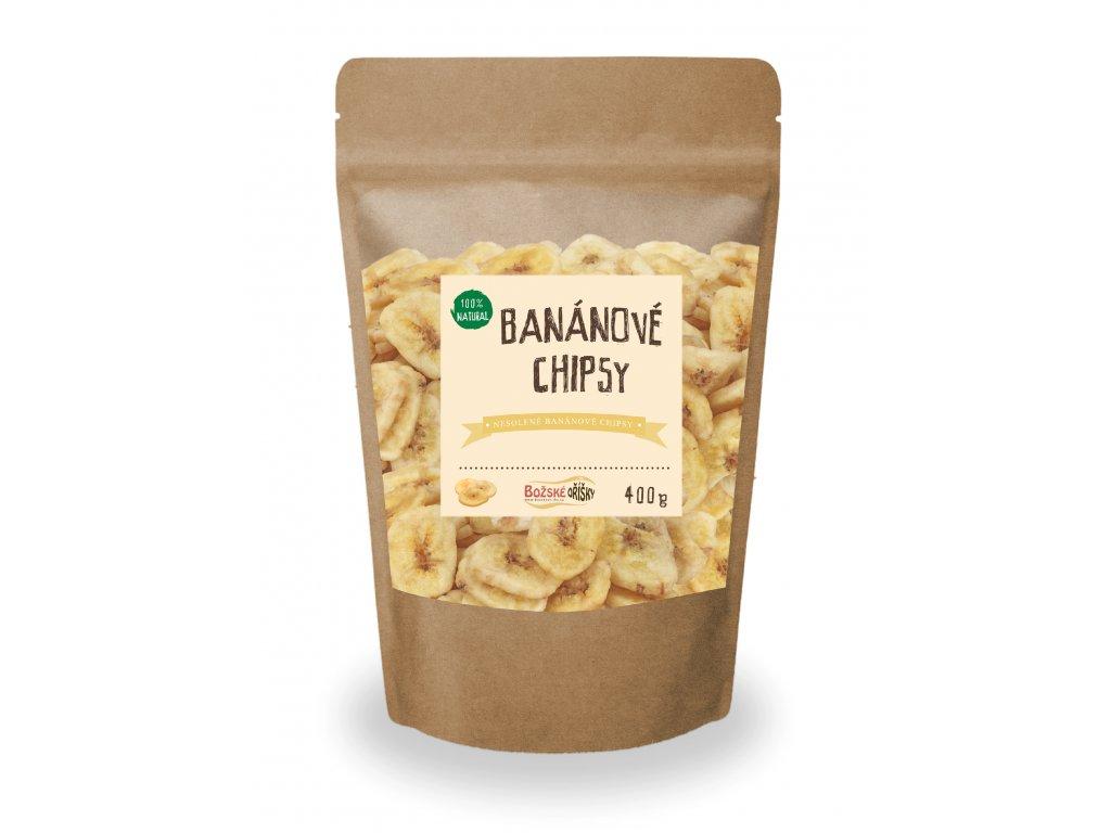 Bananové chipsy 400g