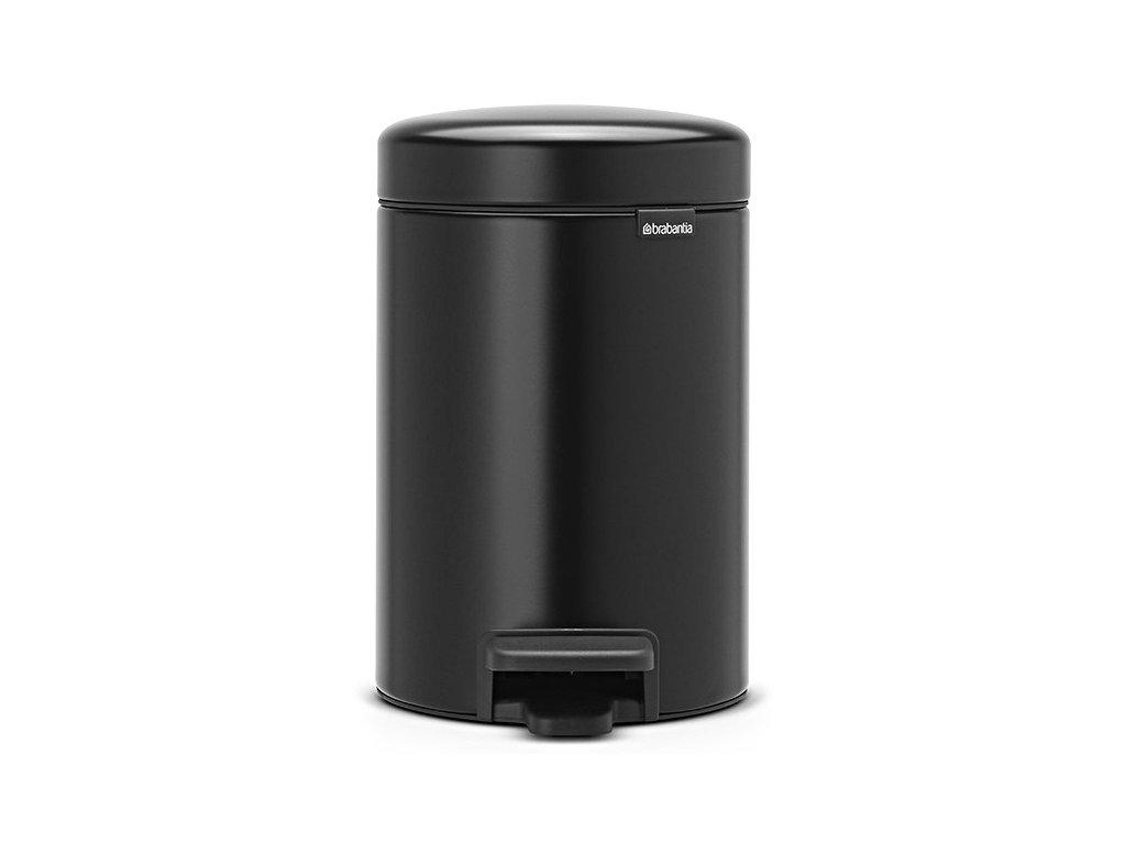 Pedálový koš NewIcon 3L matná černá