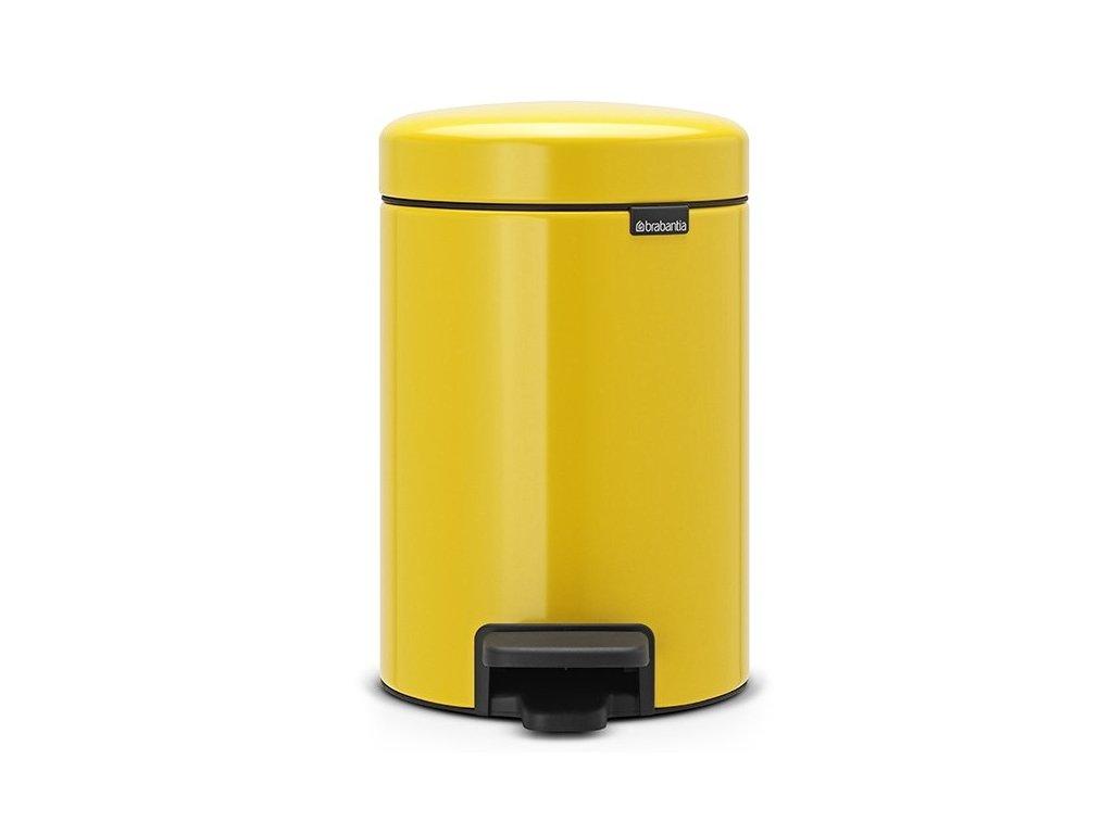 Pedálový koš NewIcon 3L žlutá