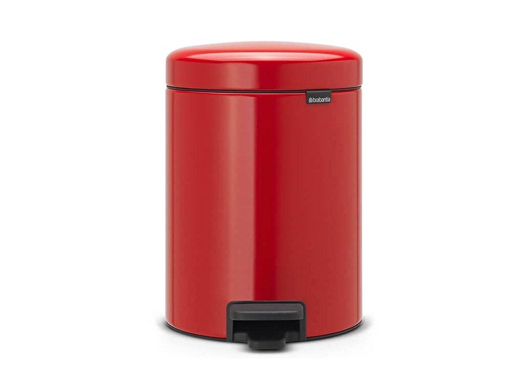 Pedálový koš NewIcon 5L zářivě červená