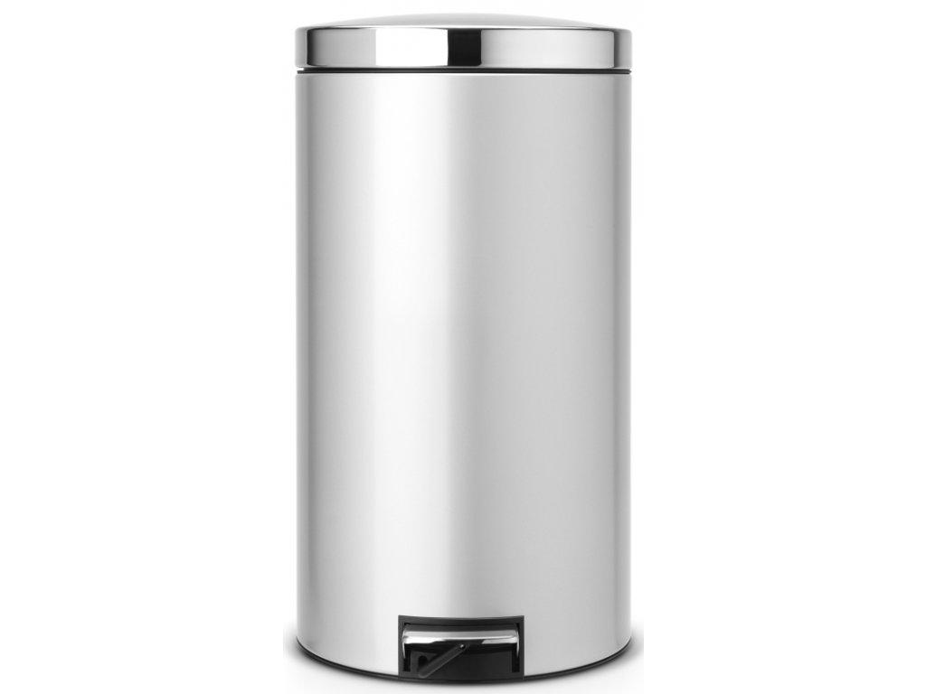 Pedálový koš Silent 45L metalická šedá