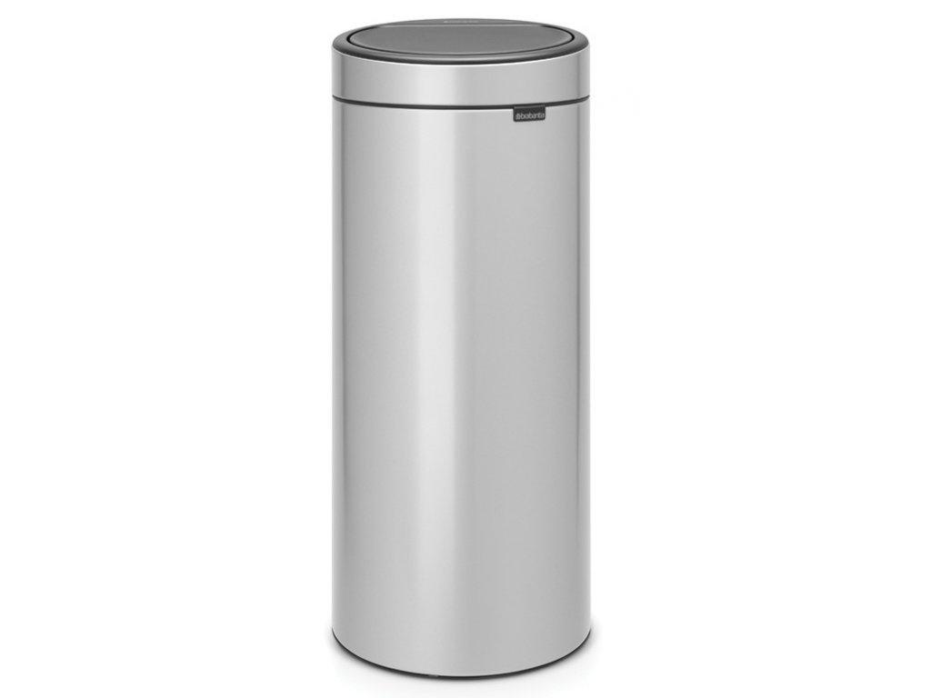 Touch Bin New, 30L Metallic Grey 8710755115387 Brabantia 96dpi 1000x1000px 7 NR 13402