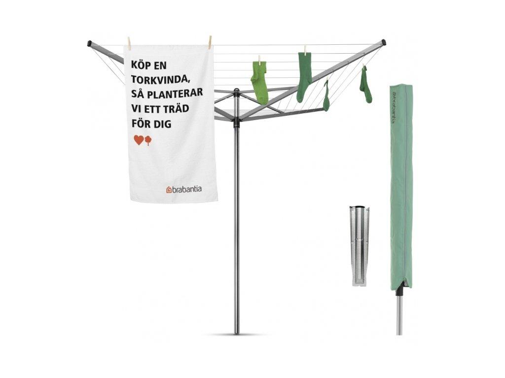 Zahradní sušák Brabantia Topspinner 50m s krytem