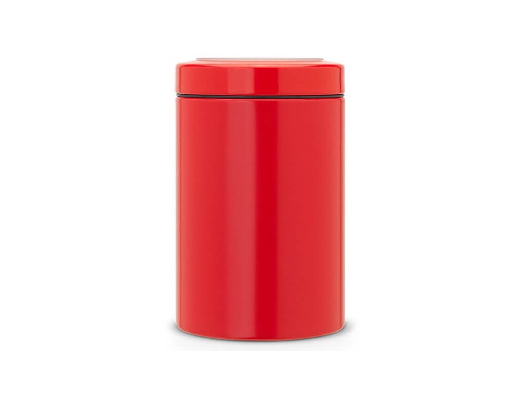 Dóza průhledné víko zářivě červená