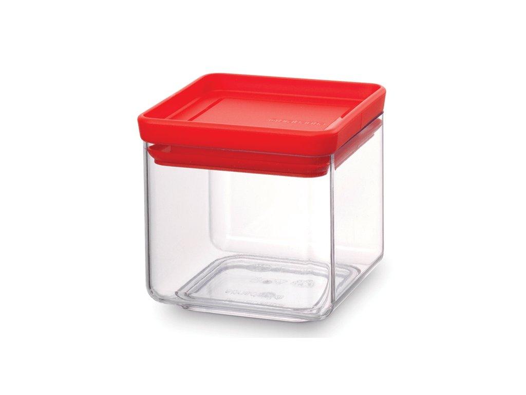 Dóza Square 0,7L červené víko