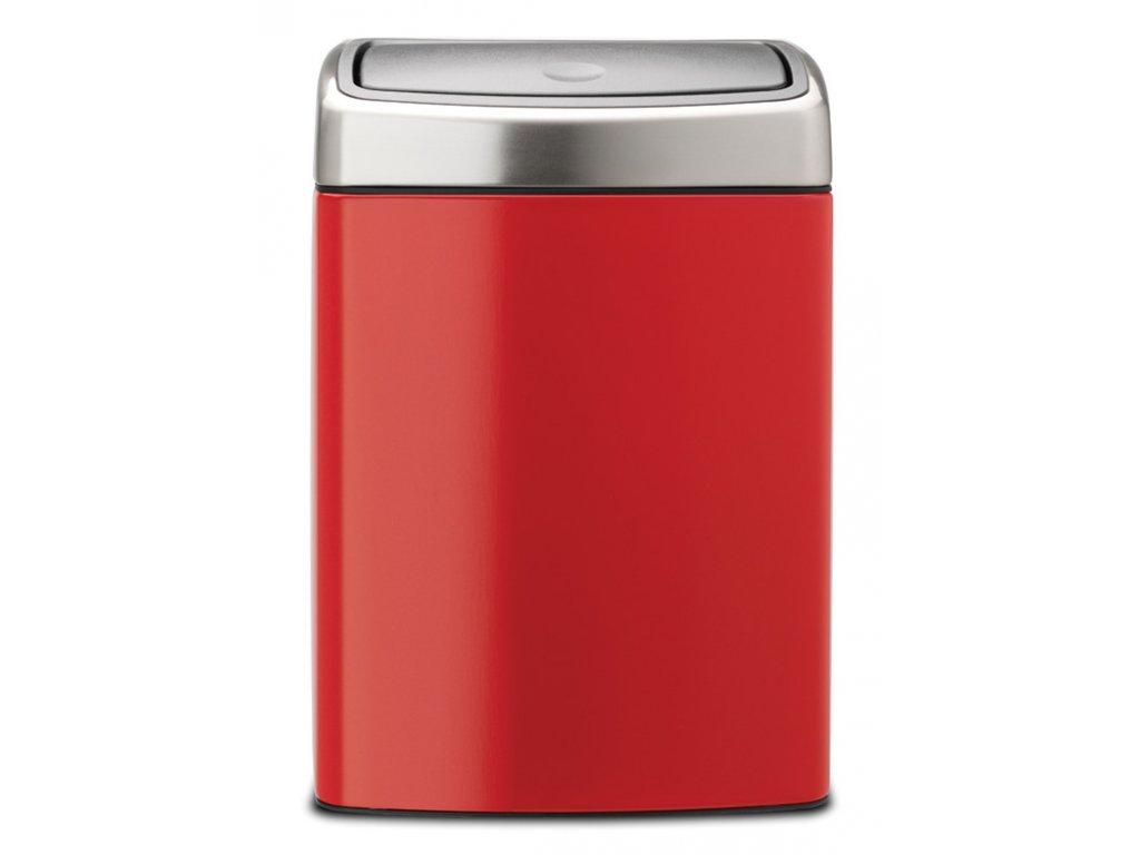 Koš Touch Bin 10L zářivě červená