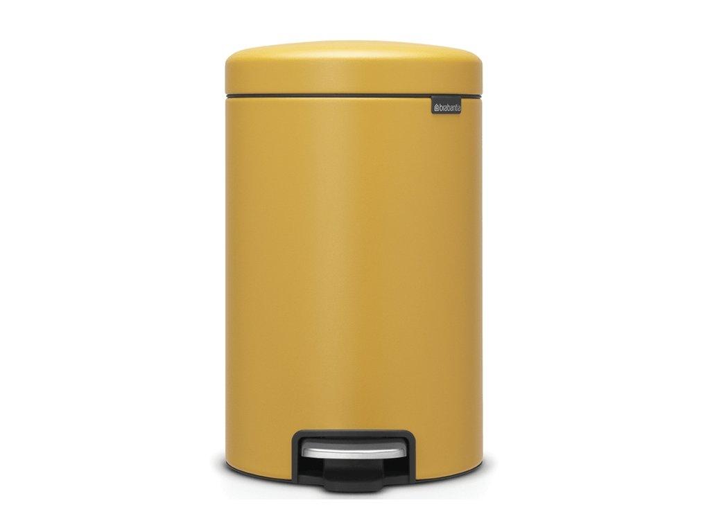 Pedálový koš NewIcon 12L minerální žlutá