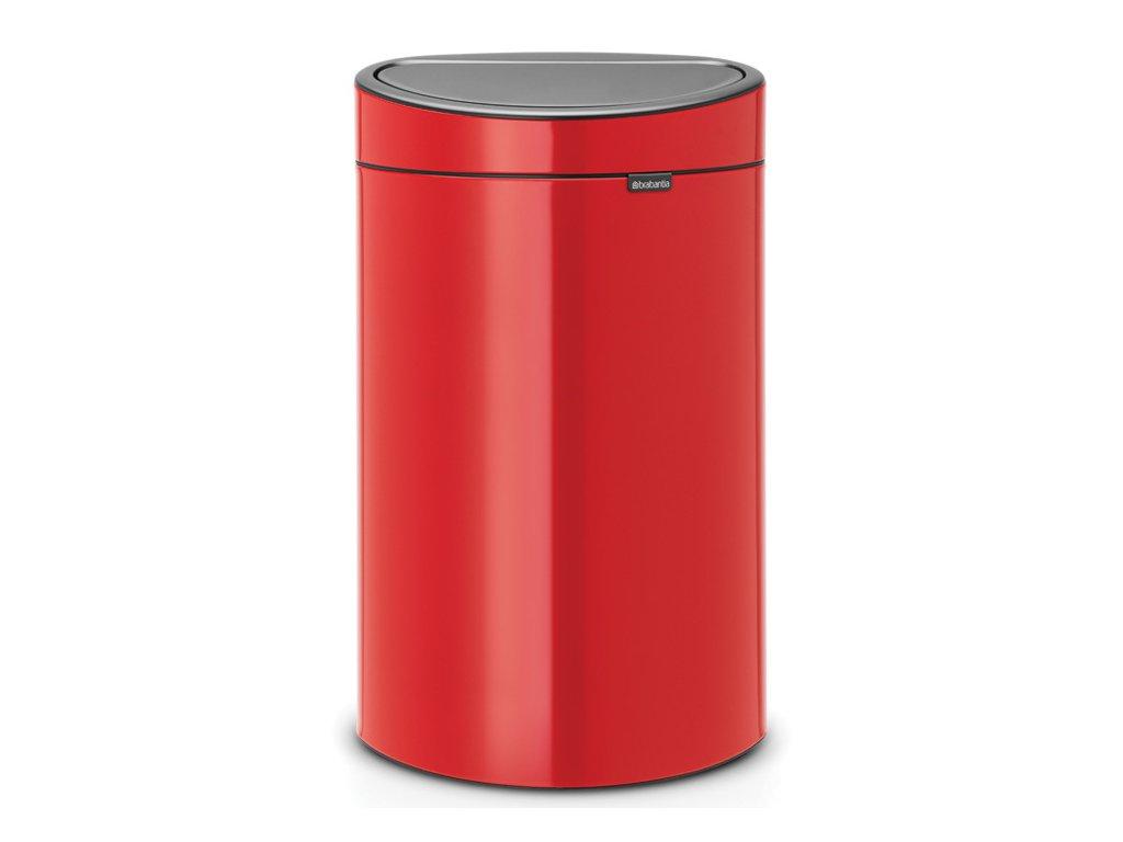 Koš Touch Bin NEW 40L zářivě červená