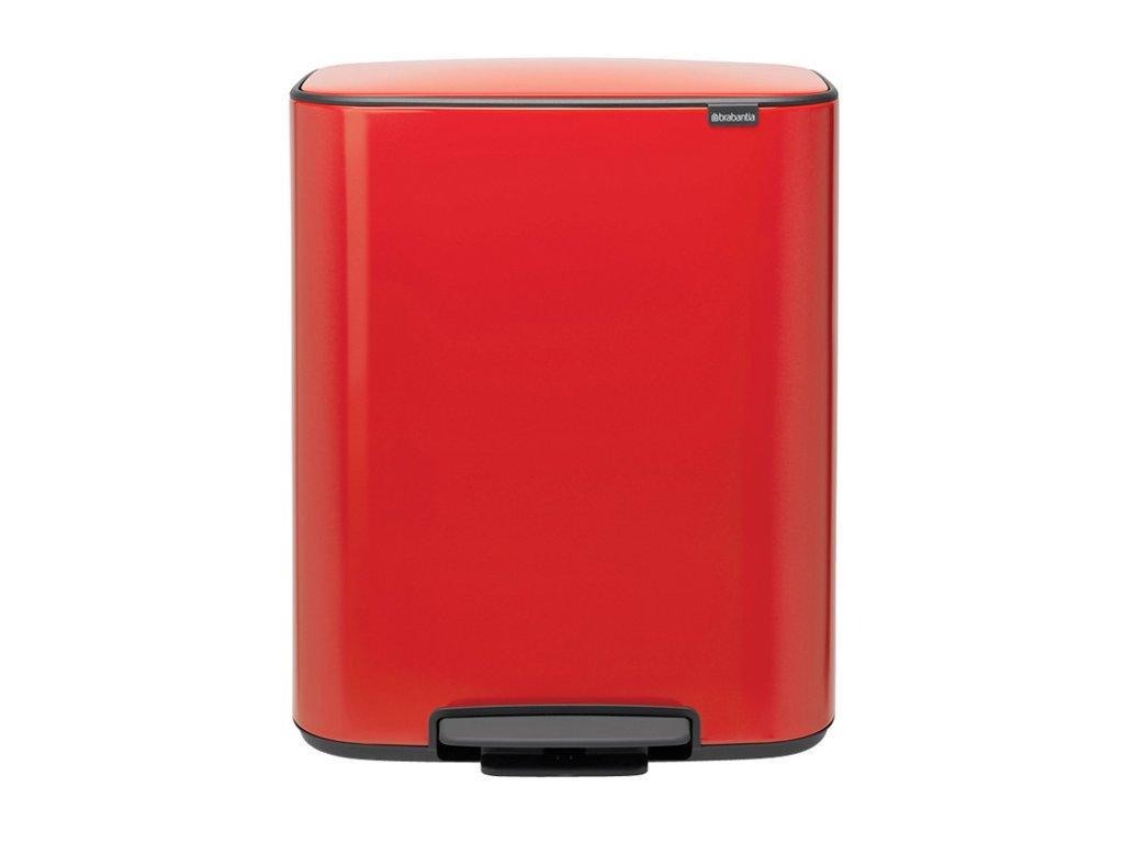 BO pedálový koš 2x30L červená