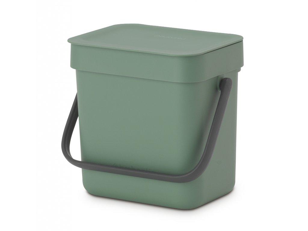 Koš Sort&Go 3L zelená