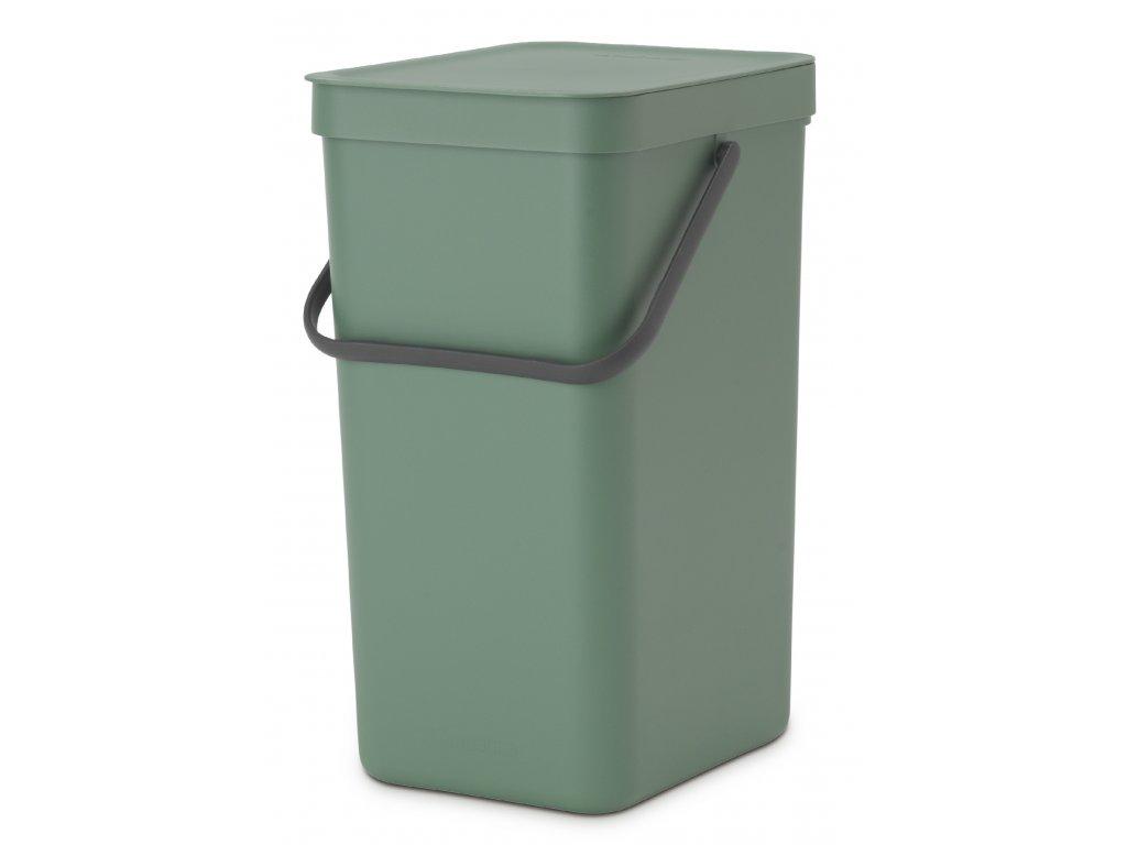 Sort & Go Waste Bin, 16L Fir Green 8710755129827 Brabantia 96dpi 1000x1000px 7 NR 21356