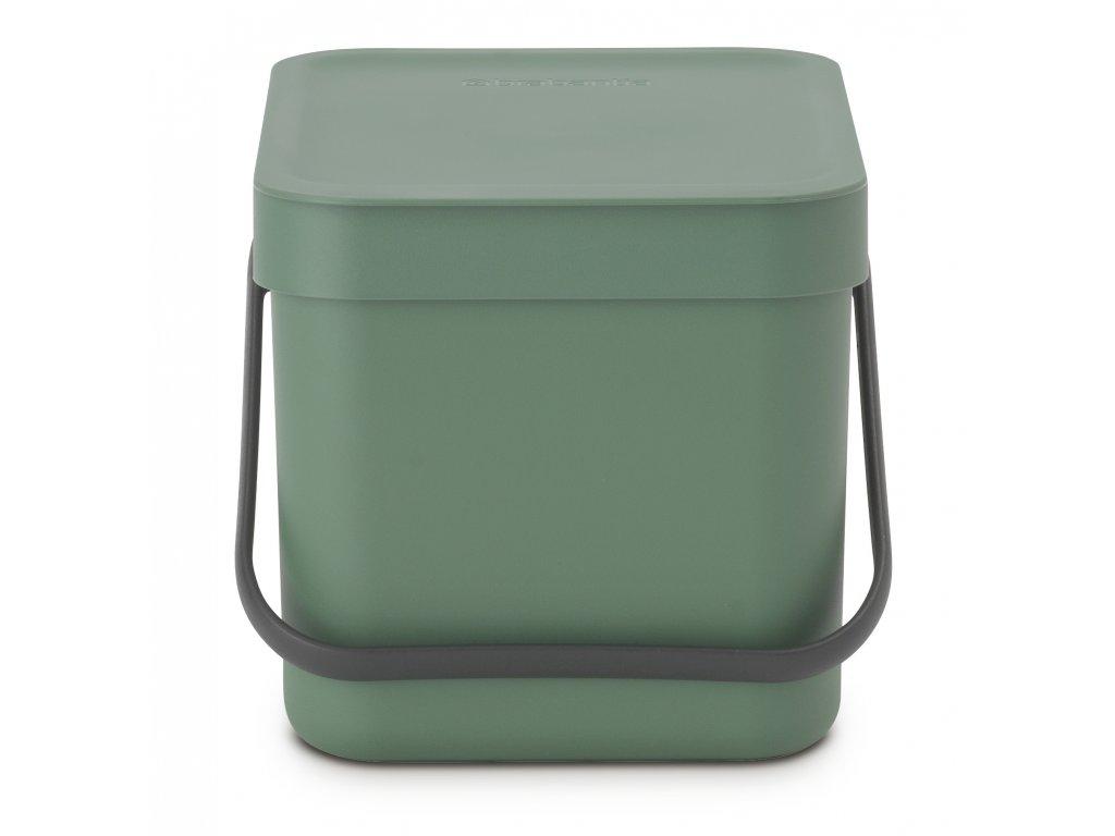 Sort & Go Waste Bin, 6L Fir Green 8710755129841 Brabantia 96dpi 1000x1000px 7 NR 21372