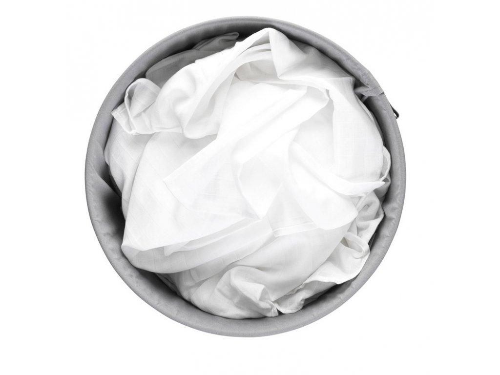 Koš na prádlo 60L bílá plastové víko