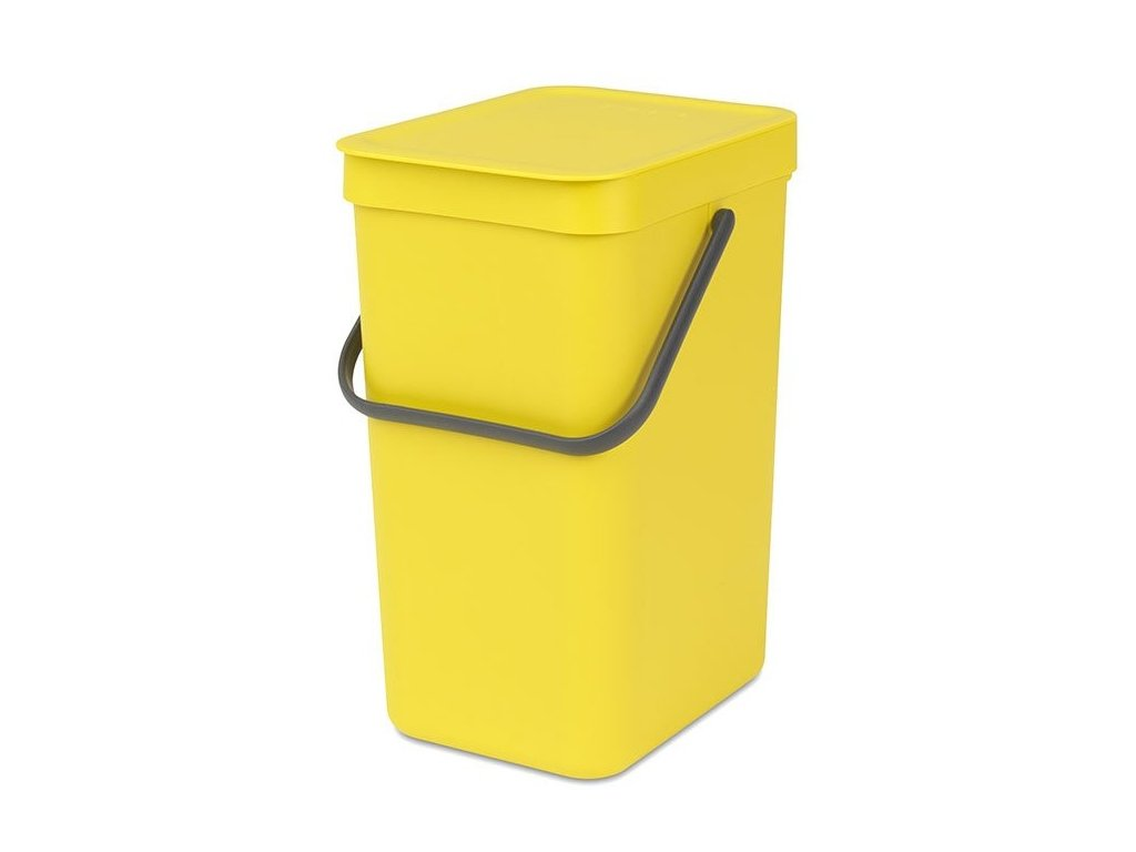 109768 Sort Go Waste Bin 12L Yellow 01