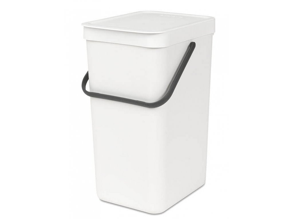 109942 Sort Go Waste Bin 16L White 01