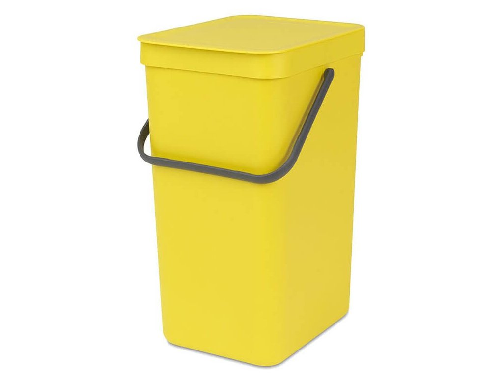 109867 Sort Go Waste Bin 16L Yellow 01