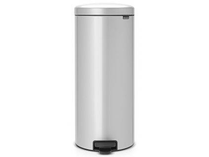 Pedálový koš NewIcon 30L metalická šedá
