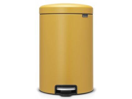 Pedálový koš NewIcon 20L minerální žlutá