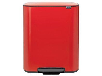 BO pedálový koš 60L červená
