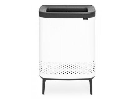 Bo Laundry Bin Hi, 2 x 45L, Plastic Lid White 8710755200540 Brabantia 96dpi 1000x1000px 7 NR 22107