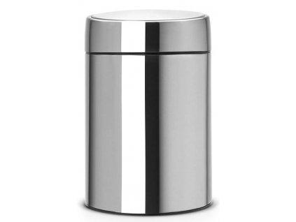Koš Slide Bin De Luxe 5L matná ocel otiskuvzdorná