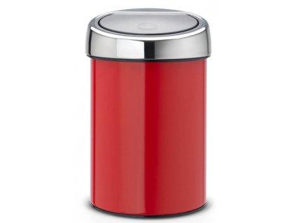 Koš Touch Bin 3L zářivě červená