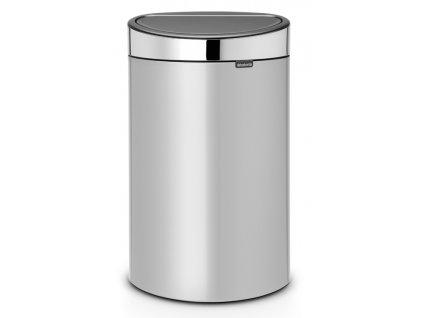 Koš Touch Bin NEW 40L metalická šedá