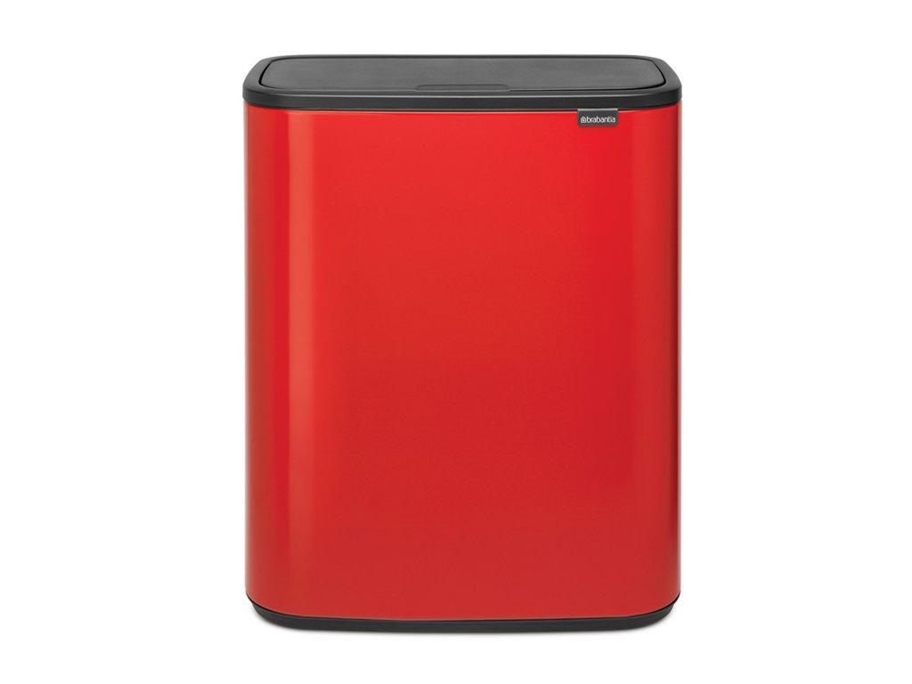 2400 4 bo touch bin 60l zarive cervena