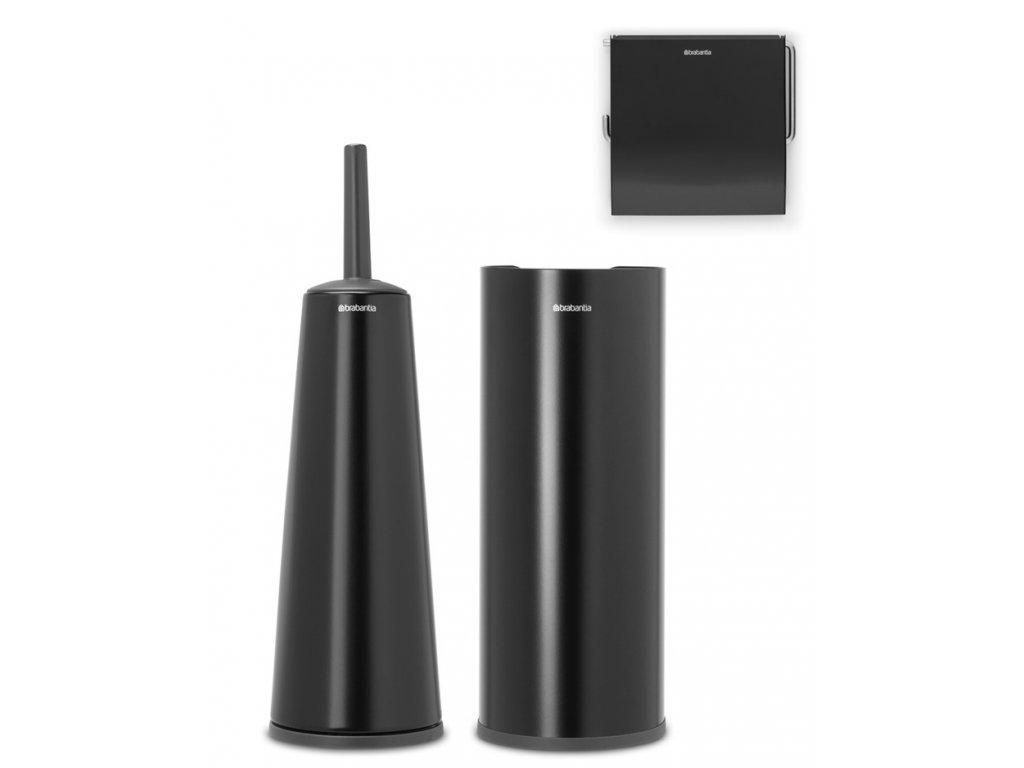 ReNew Toilet Accessory Set of 3 Matt Black 8710755280603 Brabantia 96dpi 1000x1000px 7 NR 21493