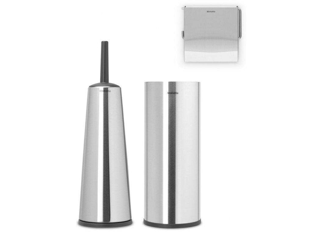 Renew Toilet Accessory Set of 3 Matt Steel 8710755280665 Brabantia 96dpi 1000x1000px 7 NR 21525