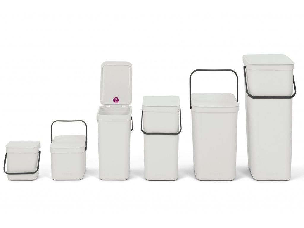 Sort & Go Waste Bin, 40L White 8710755251061 Brabantia 96dpi 1000x1000px 7 NR 23269