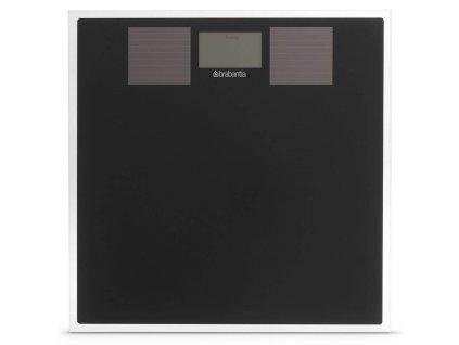 1355 solarni osobni vaha cerne sklo