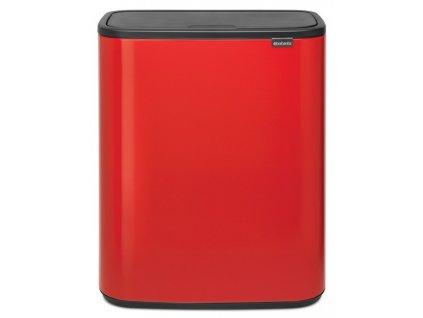 2331 bo touch bin 2x30l zarive cervena
