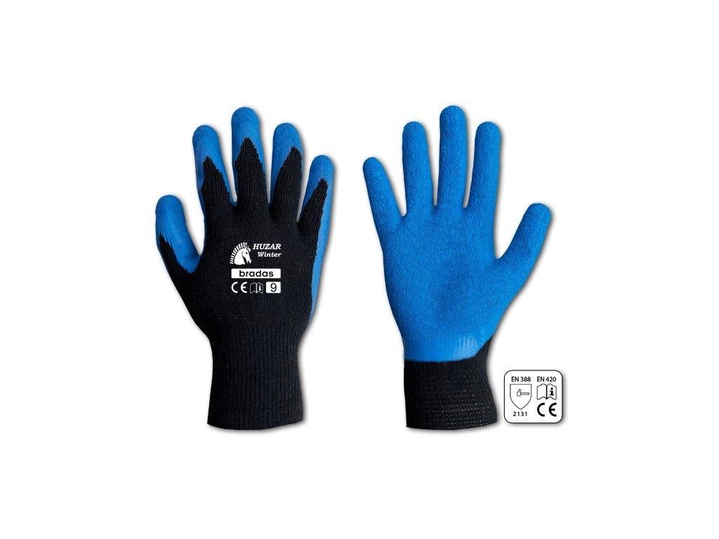 Pracovní rukavice potažené latexem, velikost XL