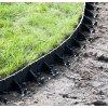 Plastový obrubník BRADAS - skrytá zahradní obruba černá 78/1025 mm