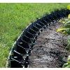 Plastový obrubník - skrytá zahradní obruba černá 58/1025 mm