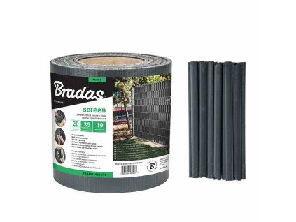 TOB4501935GYL Stínící folie na ploty Bradas